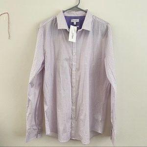 Calvin Klein Men's Lavender Button Down Size Large